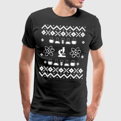 Ugly Christmas Sweater Science - Men's Premium T-Shirt