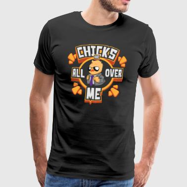 Chicks Are All Over Me Easter Bunny Happy Easter Gesc - Men's Premium T-Shirt