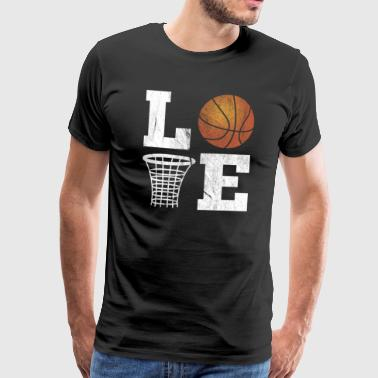 Love basketball distressed look - Men's Premium T-Shirt