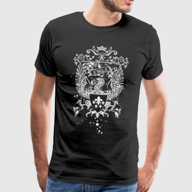 Eagle Coat of Arms Emblem Skull Kingdom Crown Art - Men's Premium T-Shirt