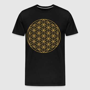 Circles flowers sacred geometry - Men's Premium T-Shirt