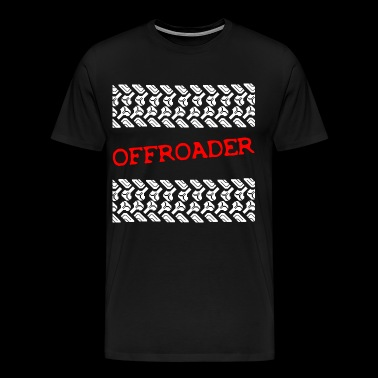 Offroader 4x4 four-wheel tire tracks off-road vehicle - Men's Premium T-Shirt