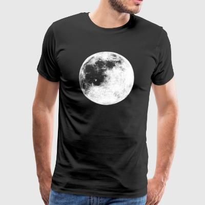 Full Moon Lunar Graphic Planet Outer Space Cosmic - Premium-T-shirt herr