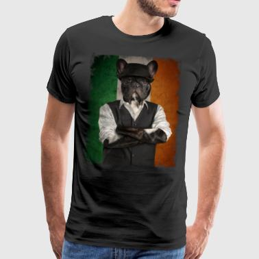 IRISH BULLDOG Ireland Shamrock St Patricks Day - Männer Premium T-Shirt
