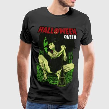 HALLOWEEN WITCH - Halloween Witch Horror gave - Herre premium T-shirt