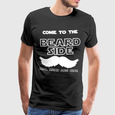 Beard Side - Premium T-skjorte for menn