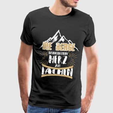 The mountains make my heart laugh - Men's Premium T-Shirt