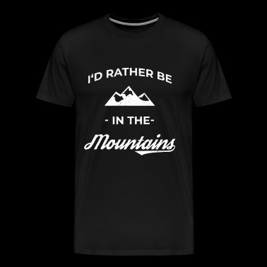 Mountain Mountaineering Mountain sports Mountain running Climbing - Men's Premium T-Shirt