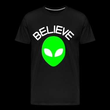 Alien head alien Believe - Men's Premium T-Shirt