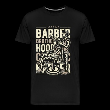 Salon de coiffure Brotherhood - barbier salon de coiffure salon de coiffure shirt - T-shirt Premium Homme