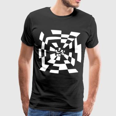 Surreal tunnel Abstract path 1c - Men's Premium T-Shirt