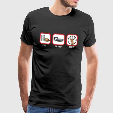 EAT SLEEP HUNT - Herre premium T-shirt