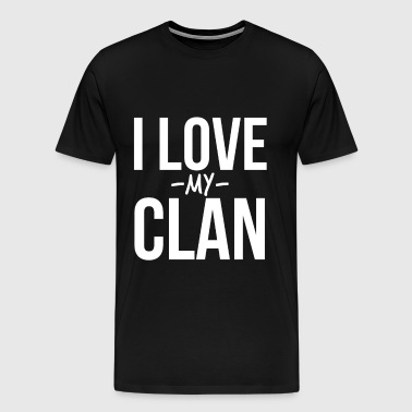 I Love My Clan Family Reunion - Men's Premium T-Shirt