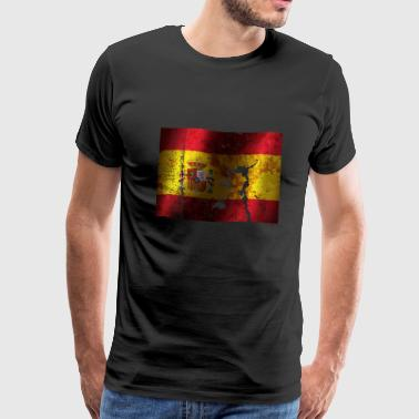 Spain flag cool vintage used sport style - Men's Premium T-Shirt