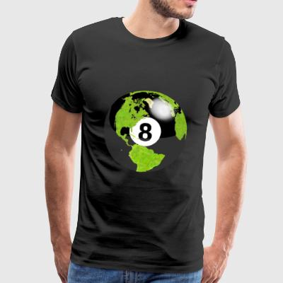 8-ball planet earth globe earth globe - Men's Premium T-Shirt
