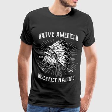 AMERICAN INDIAN - Indian shirt design - Mannen Premium T-shirt