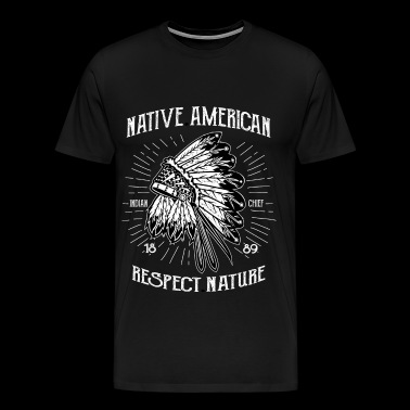 AMERICAN INDIAN - Indian shirt motif - Men's Premium T-Shirt