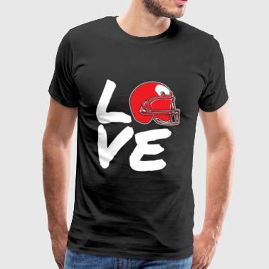Fotball-LOVE - Premium T-skjorte for menn
