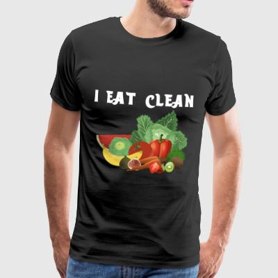 Eco Bio Lowcarb LC Clean Eat Vegetable Fruit Stone Age - Men's Premium T-Shirt