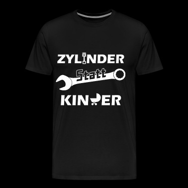 Cylinder instead of children - Men's Premium T-Shirt