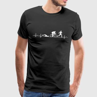 Heartbeat of a triathlete - Triathlon Hearbeat - Men's Premium T-Shirt