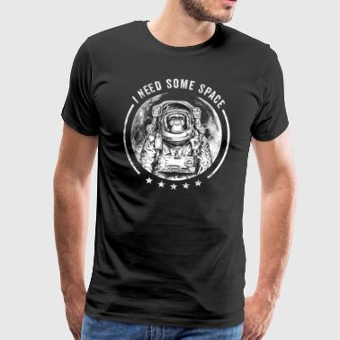 Monkey Astronaut Chimpanzee Moon Zoo Funny saying - Men's Premium T-Shirt