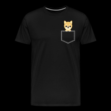 Pocket Animal - Shiba Inu - Men's Premium T-Shirt