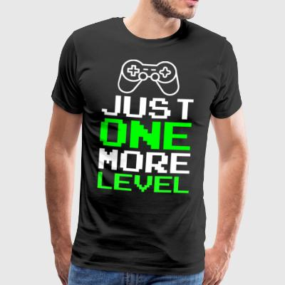 Just One More Level Funny Gamer T-shirt - Herre premium T-shirt