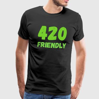 420 Friendly - Grass Ween Kiffen hampa Gift - Premium-T-shirt herr