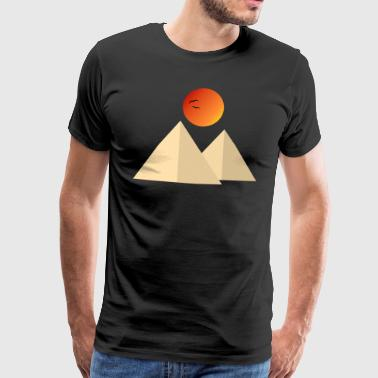 Pyramid in the desert - Men's Premium T-Shirt