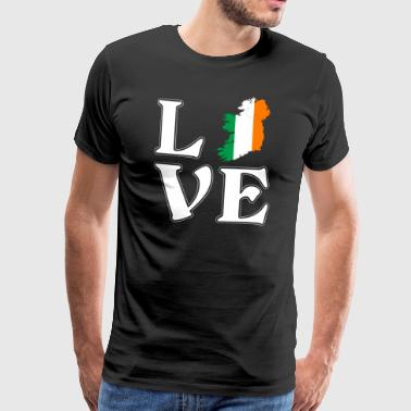I love Ireland - Ireland - travel - adventure - Men's Premium T-Shirt