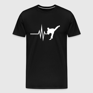 My heart beats for Combat Sports - Sports Fitness - Men's Premium T-Shirt