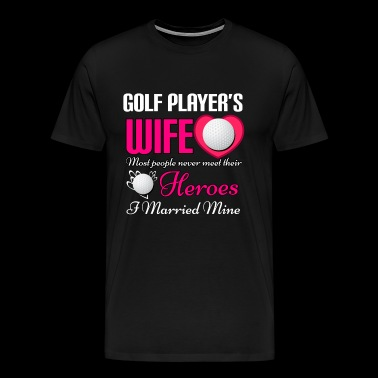 Golf Golfaren Golf Club golf golfspelare grop - Premium-T-shirt herr