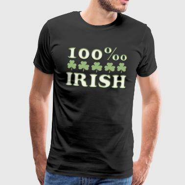100 ‰ per thousand Irish St. Patrick's Day shamrock - Men's Premium T-Shirt