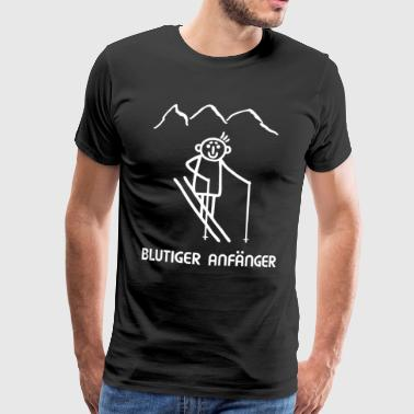 Skier Wintersport - Absolute Beginner - Mannen Premium T-shirt