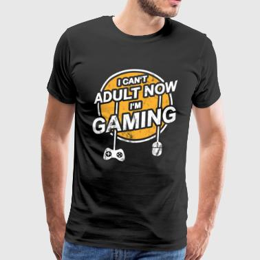 Gaming Can't Adult Now Nerd Gamer Funny - Männer Premium T-Shirt