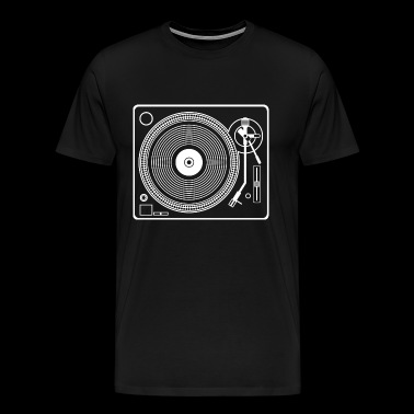 Record player turntable - Men's Premium T-Shirt