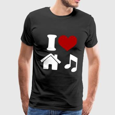 I Love House Music - Männer Premium T-Shirt