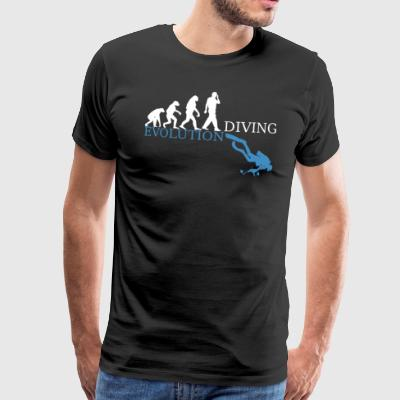 Evolution Diving - Männer Premium T-Shirt