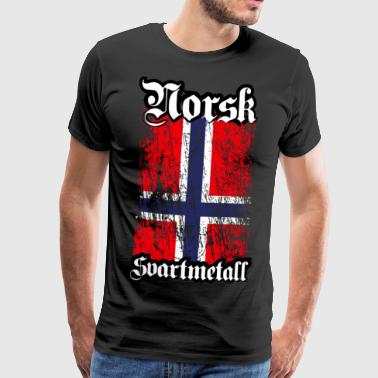 (Trve) Norwegian Black Metal - Norsk Svartmetal - Men's Premium T-Shirt