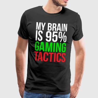 Gaming taktik Rolig Video Gamer T-shirt - Premium-T-shirt herr