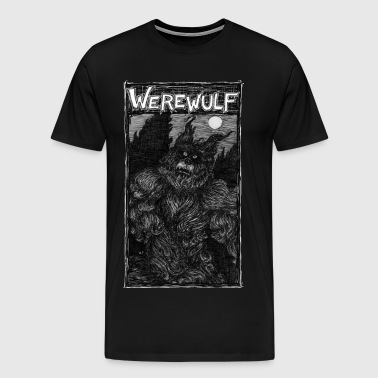Werewulf, the wolf and man - Men's Premium T-Shirt