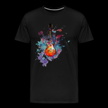 Les Paul Guitar Splash - Men's Premium T-Shirt