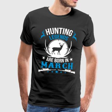 Hunting legends are born in March - Männer Premium T-Shirt