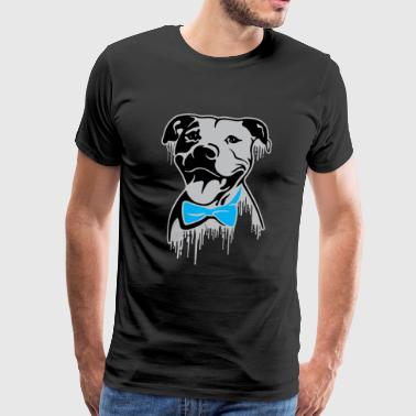 Pitbull dog with fly - Men's Premium T-Shirt