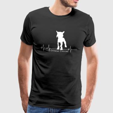 Chinese Crested Shirt-Heartbeat - Men's Premium T-Shirt