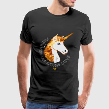 Unicorn glamor gold mane glistening friend for imm - Men's Premium T-Shirt