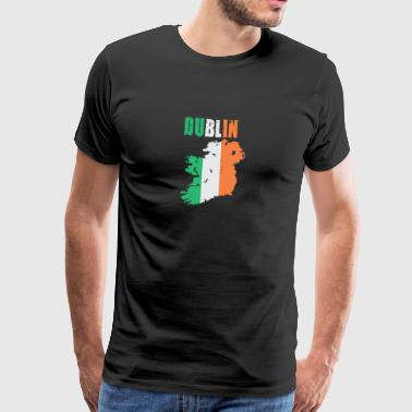 Dublin Ireland Flag Design - Men's Premium T-Shirt