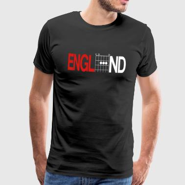 England Red and White Shirt in Guitar Chords - Men's Premium T-Shirt