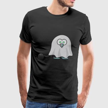 Ghost with iron ball around the foot. gift idea - Men's Premium T-Shirt